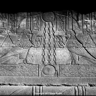 Two Ba Figures, Temple of Hathor, Dendera, 2017