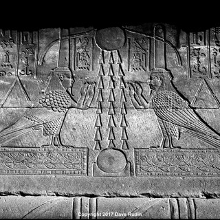 Two Ba Figures, Temple of Hathor, Dendera, 2017