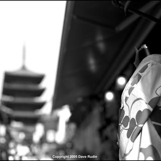 Kimono and Pagoda, Kyoto, 2005
