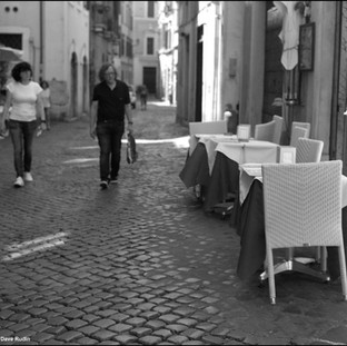 Tables and Chairs, Rome, 2017