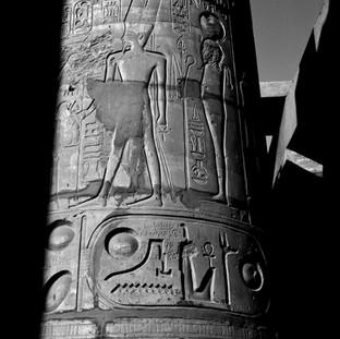 Column with the Cartouche of Ramses II, Karnak Temple, Luxor, 2017