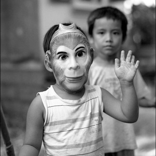 Boy With Mask, Bamboo Village, 2011