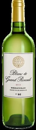 Ponty Blanc de Grand Renouil 2017 Brodeaux Blanc