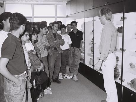 ביקור תלמידים בבורסה 1989