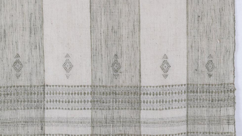 Shaded Beige Sage Green Wool Blanket