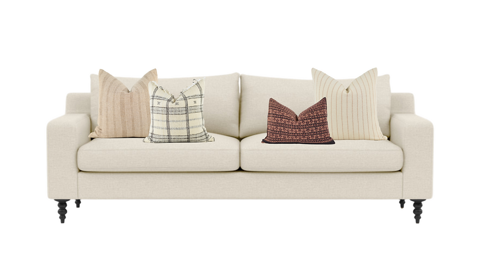 Neutral Pillow Combination with Warm color tones