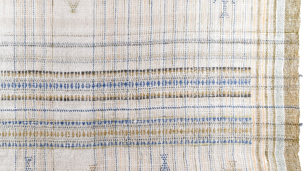 Neutral Abstract Woven Blanket