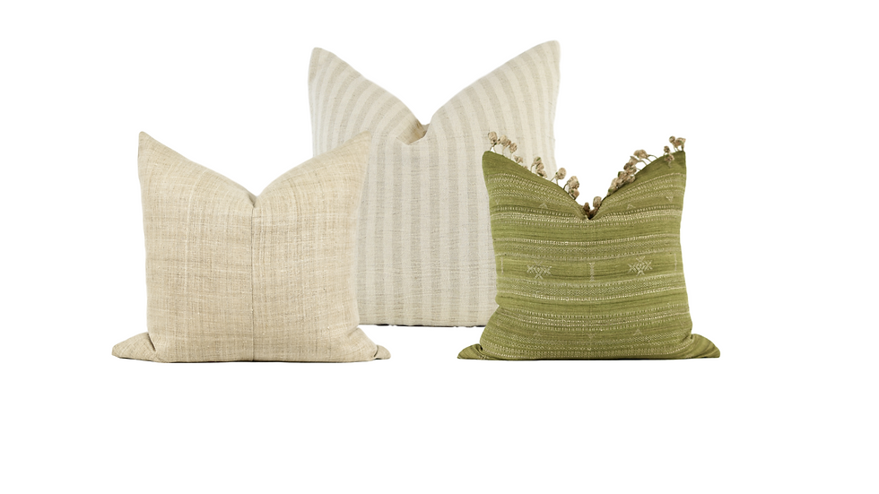 Olive Green Pillow Combination