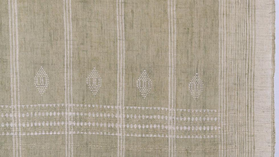 Beige Sage Green Wool Blanket