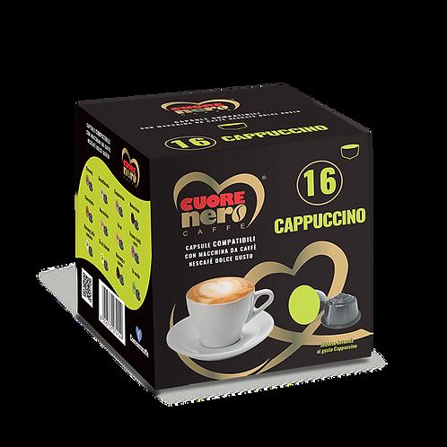 """50 Unità Capsule Compatibili """"DOLCE GUSTO"""" aromatizzate al Cappuccino 16pz"""