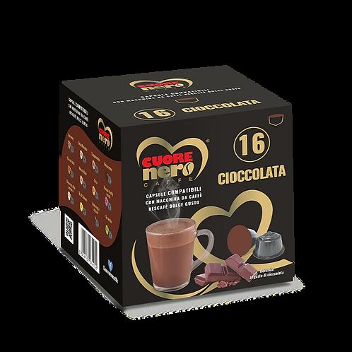 """50 Unità Capsule Compatibili """"DOLCE GUSTO"""" aromatizzate al Cioccolato 16 pz"""