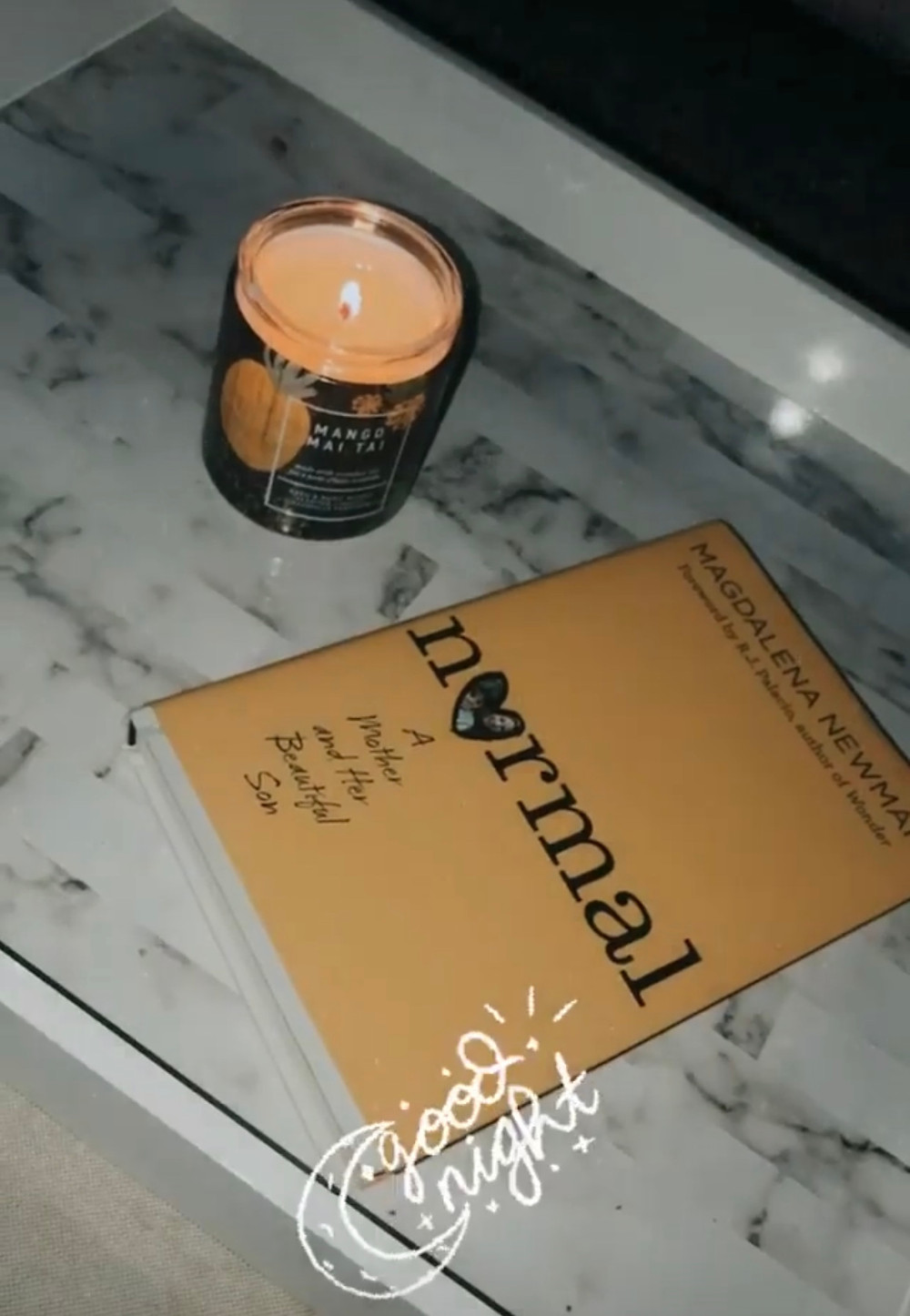 normal magdalena newman candle relax COVID-19