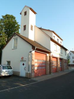 Gerätehaus von der Rhönstr. aus