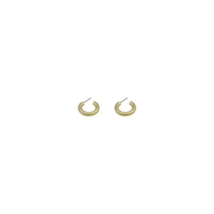 Mini Donut Hoop Earrings Matte