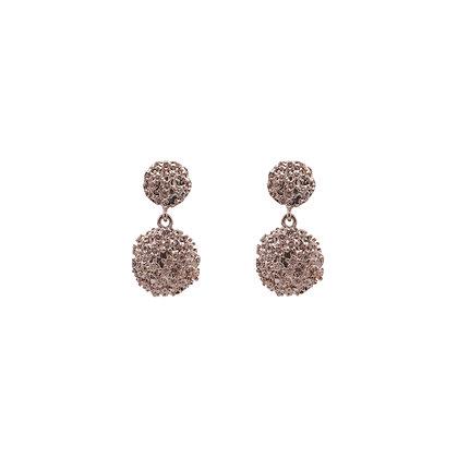 Chiara Metal Pendant Drop Earrings