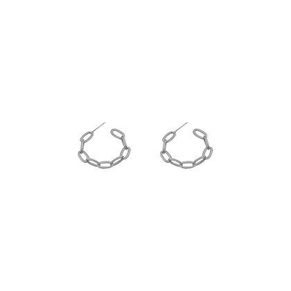 Thin Chain Hoop Earrings
