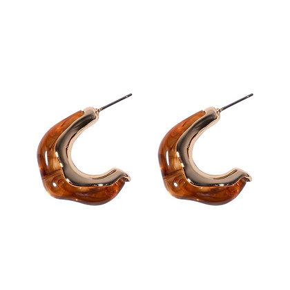 Mabel Smoked Hoop Earrings