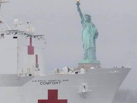 US Naval Hospital Ship in New York photo goes viral.