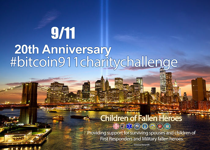#911charitychallenge bitcoin children of