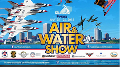 Air Force Thunderbirds Air and Water Show Poster Design