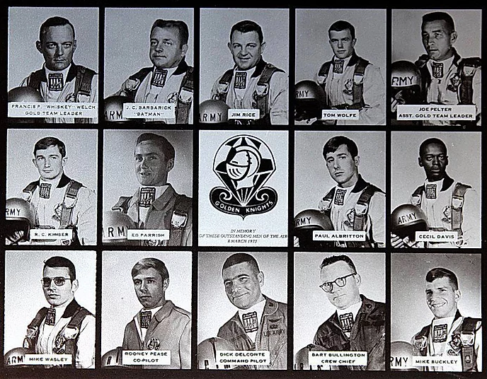 United States Army Parachute Team Golden Knights Silk Hope North Carolina 1973