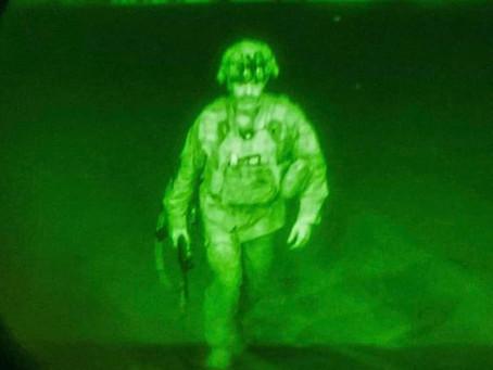 The Last American Solider leaves Afghanistan