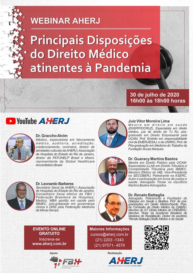 Webinar AHERJ: Principais Disposições de Direito Médico atinentes à Pandemia