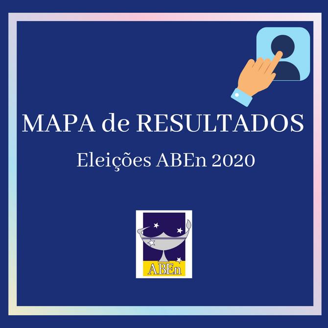 Mapa de resultados das Eleições ABEn 2020