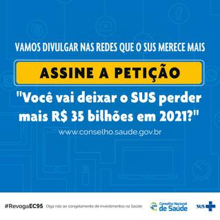 Você vai deixar o SUS perder mais R$ 35 bilhões em 2021?