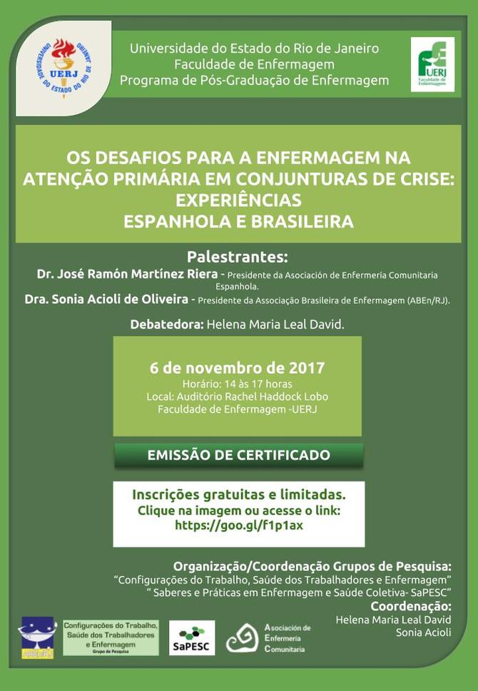 Os desafios para a Enfermagem na Atenção Primária em conjunturas de crise: experiências espanhola e
