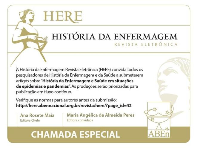 HERE | História da Enfermagem – Chamada Especial.
