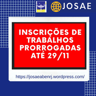 III JOSAE - Inscrições Prorrogadas