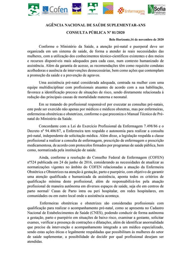CONSULTA PÚBLICA Nº 81/2020