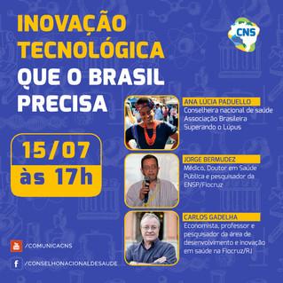 """Live do CNS discutirá desenvolvimento tecnológico na Saúde: """"qual a situação do Brasil?"""