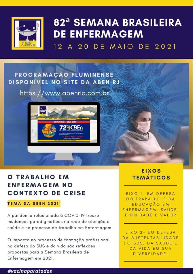 Já consta no site a programação da 82ª Semana Brasileira de Enfermagem. Consute e participe!