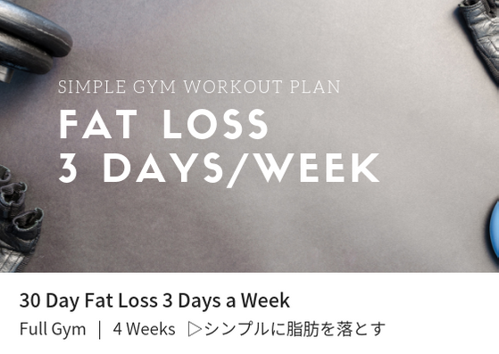 Fat Loss 3 Days a Week