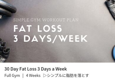 Fat Loss 3 Days a Week