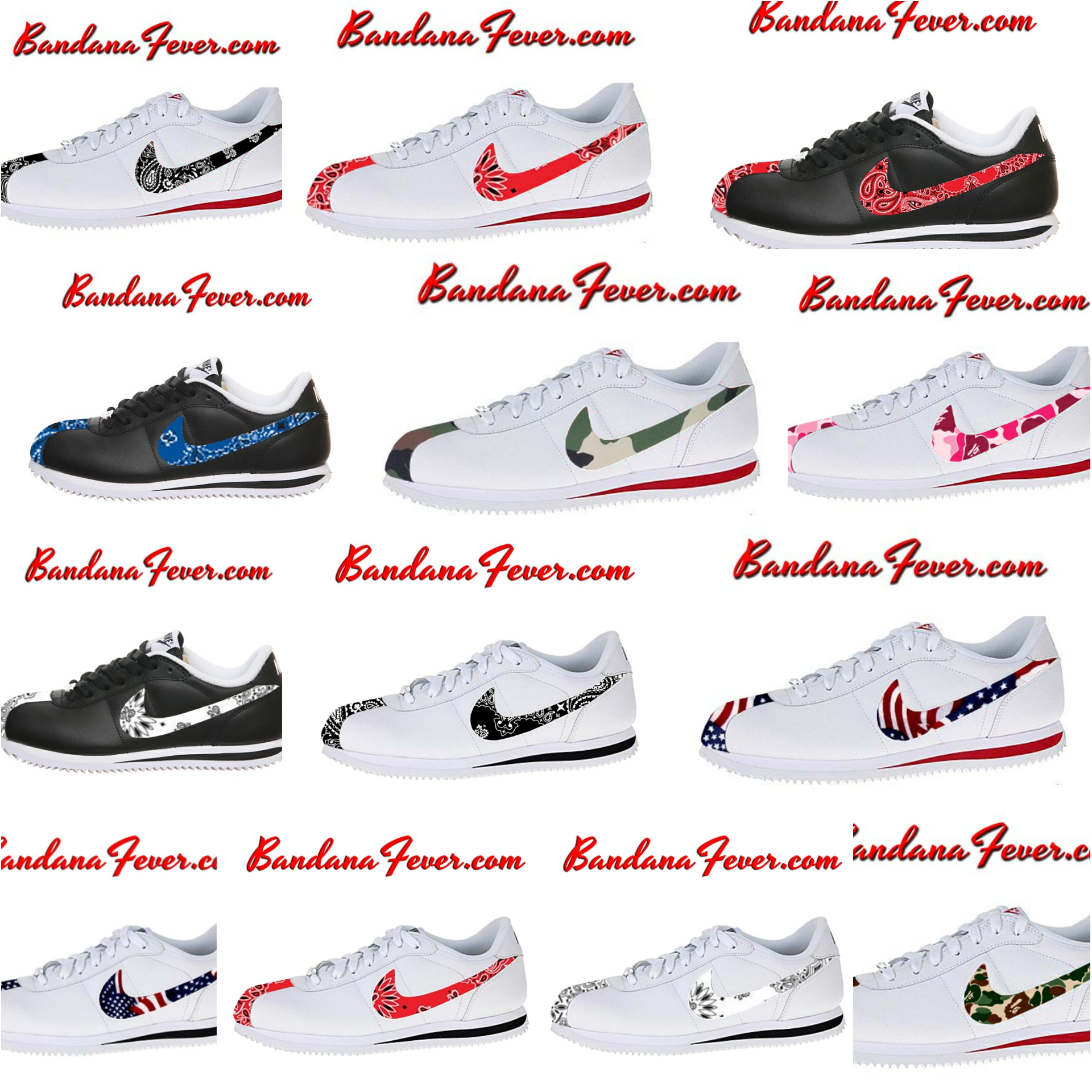 separation shoes 9621b 30a4c australia bandana fever custom bandana nike cortez white navy navy bandana  whole cortez nikes a24ef f5dd5  get design of the day new nike cortez  styles ...