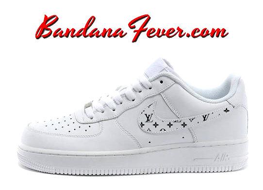 nike shoes air force 1 supreme. custom supreme black monogram nike air force 1 shoes white low, bandana fever e