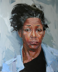 painted portrait african american black woman