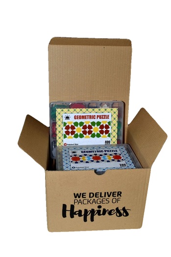 Package of Happiness (4 Type of Geometric Puzzle)