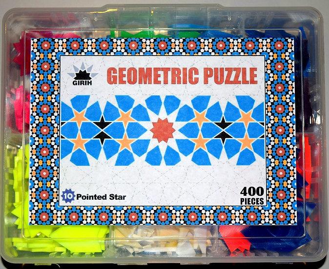 10 Pointed Star Geometric Puzzle (Sharp) - 400 pcs