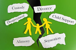 Paper cutout family with divorce related
