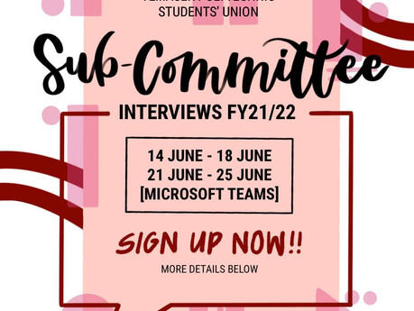 TPSU Sub-Committee Interviews FY21/22