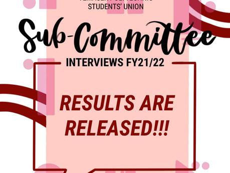TPSU Sub-Committee AY 21/22