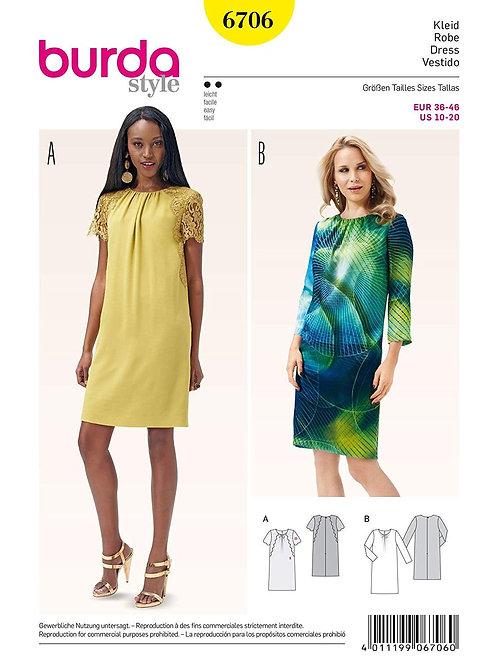 Burda Style Sewing Pattern 6706 Misses' Dresses