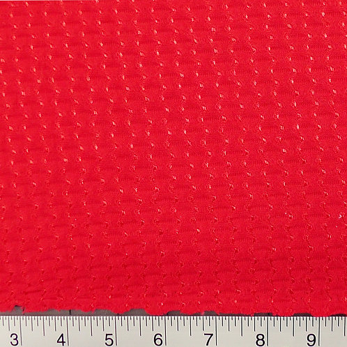 Bright Red Knit Fabric Satin Dot