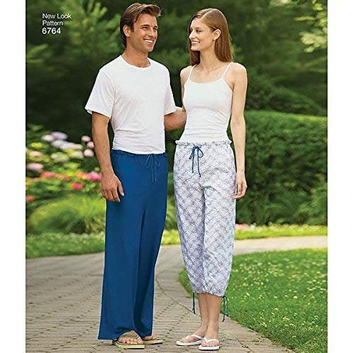 New Look Sewing Pattern 6764 His and Hers EASY 1 Hour Lazy Pants or Shorts