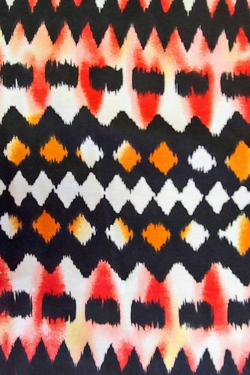 Tribal Print Ponte de Roma Knit
