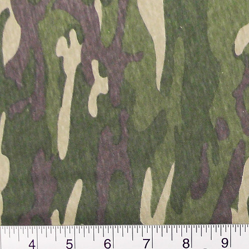 Camouflage Print T-shirt Knit Fabric